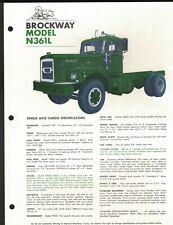 Brockway Truck Model N361L Brochure 1972 With Specs