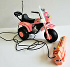 Barbie size 1980s Remote Control Pink Plastic 3 Wheeler ATV with box ARCO TESTED