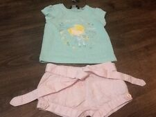 Brand New Size 18-24 Months Mint Green T-Shirt & Baby Pink Shorts