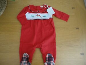 Next Baby Girls Xmas Outfit Babygrow Organic Cotton 0 1 3 Months BNWT FREEPOST