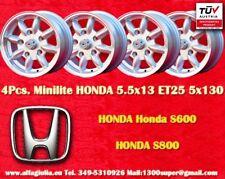 4 Cerchi Honda S600 S800 Minilite 5.5x13 ET25 5x130 Wheels Felgen Llantas Jantes