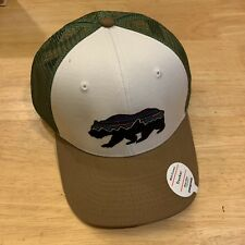 Patagonia Fitz Roy Bear Trucker Hat New With Tags - White With Coriander feaab324846a