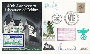 40th Anniv of Liberation of Colditz signed by inmates A L  McCall, F W C Weldon