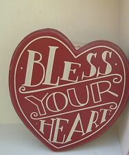 Bless Your Heart Primitives by Kathy heart shaped Trinket box