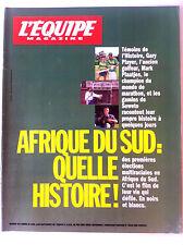 L'Equipe Magazine du 25/04/1994; Afrique du Sud en Noirs et Blancs