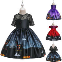 Toddler Kid Baby Girl Cartoon Princess Gown Halloween Party Pageant Dress Outfit