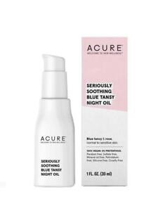 Acure Seriously Soothing Blue Tansy Night face Oil 1 fl oz  Size NIB