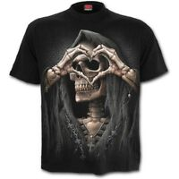SPIRAL DIRECT DARK LOVE - T-Shirt Death/Heart/Reaper/Metal/Biker/Reaper/Top/Tee
