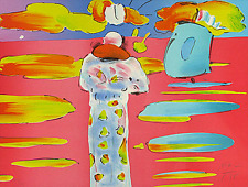"Peter Max    ""Monk and the Red Sea""   MAKE OFFER    DSSTD"