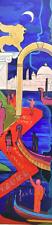 Carlo Massimo Franchi, Red Carpet, olio su plexiglas con illuminazione, 171x46x4