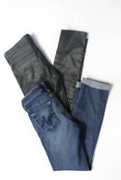 AG Adriano Goldschmied Womens Super Skinny Ankle Jeans Grey Blue Size 24 LOT 2