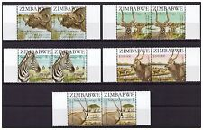 ZIMBABWE 2007 SAPOA SECOND JOINT FULL SET IN MARGINAL PAIRS SG1244 TO 1248