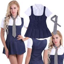 Sexy Lingerie School Girl Student Cosplay Dress Uniform Nightclub Costumes S