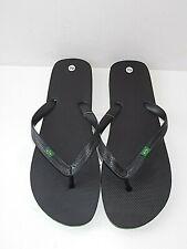 New Mens Black Brazil Logo Flip Flops / Beach Sandals Size UK 10