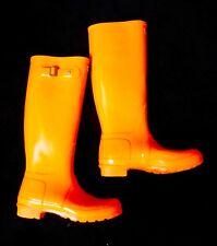 Hunter Festival 2011 Original Tall Gloss Orange Wellies Wellington Boots
