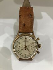 Vintage Fidelius Two Reg Chronograph Manual Wind Watch Swiss