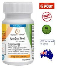 Horny Goat Weed Extract Blend (60% Icarin) 500mg - Men Health - AU Stock