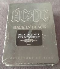 "Ac/Dc ""Back In Black"" Cd Collector Edition, Box, Tshirt Large, New"