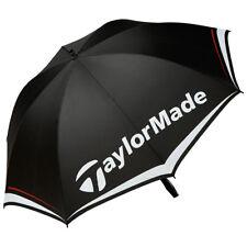 "TaylorMade 60"" Single Canopy Golf Umbrella 2017 Black/White/Gray New"