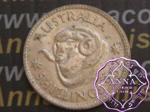 Australia 1957 QEII Shilling X1, High Condition