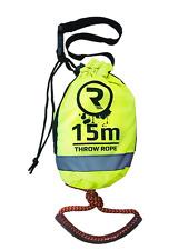 15m Riber Throwbag Throwline Rescue Rope Kayak Canoe Safety Emergency Gear