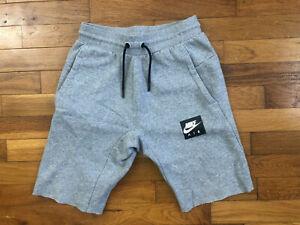 Nike Air Sweatpant Shorts women's LARGE grey box logo swoosh gym jogging 1c827