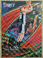 2019-20 Panini Select Tmall Luka Samanic Rookie RC Red Wave Courtside 🏀 Spurs