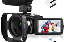 Video Camera Camcorder with Microphone, Rosdeca Vlogging Camera FHD 1080P 36M...