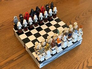 LEGO STAR WARS 1450 PIECE CHESS SET AND FIGURES - AFOL MOC - ALL NEW PIECES