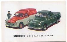 Morris ¼ Ton Van & Pick-up Original colour Factory issued Postcard Morris Minor