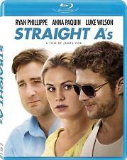 Straight A's (Blu-ray, 2012, WS) Luke Wilson, Ryan Phillippe, Anna Paquin  NEW