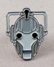 Cyberman Head Pin Badge