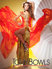 Tony Bowls Paris 112712 Animal Cheeta Print Orange Multi sz 2 NWT