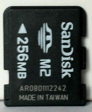 Sandisk 256MB M2 memory card.