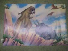 Prehistoric Dinosaurs  Poster Vintage 1987 Jurassic  T-Rex C52