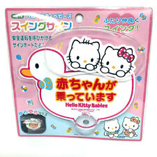 Sanrio Hello Kitty Baby in Car Safety Swing Sign 5145