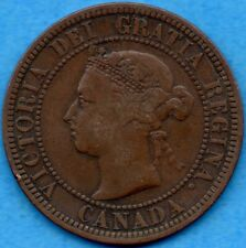 Canada 1888 1 Cent One Large Cent Coin - VG/F