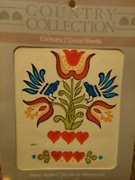 Meyercord Vintage Water Applied Decals Country Birds Floral New NOS
