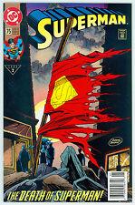 SUPERMAN #75 NM *EPIC DOOMSDAY vs SUPERMAN BATTLE* DEATH OF SUPERMAN SAGA 1992