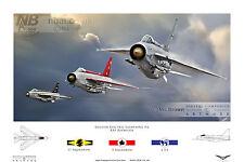 EE Lightning F.6, LTF, 5 & 11 Squadron RAF Binbrook. Digital Artwork Print