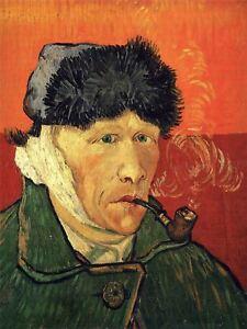 Vincent Van Gogh Self Portrait With Bandaged Ear 1889 Picture Canvas Art Print