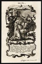 santino incisione1700 S.MARTINO cistercense   klauber