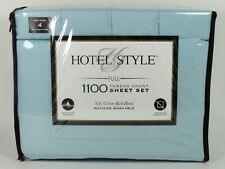 New Hotel Style 1100 Thread Count Sheet Set Size Full Teal Color Cotton Blend