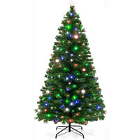 Green Fibre Optic Christmas Tree Multi Colour LED Lights 2ft 3ft 4ft 5ft 6ft 7ft