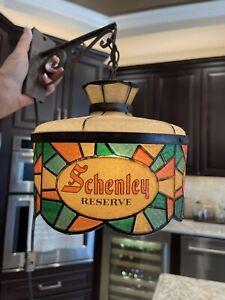 "Schenley Reserve Whiskey ""RARE"" hanging bar light"