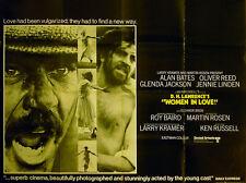 WOMEN IN LOVE 1969 Alan Bates, Oliver Reed, Glenda Jackson UK QUAD POSTER