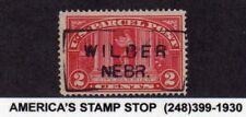 1913 Us Parcel Post Sc Q2, 2c City Carrier - Used, Precancel: Wilber, Nebraska*