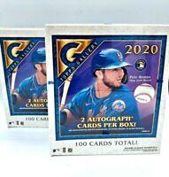 2020 Topps Gallery Baseball Hobby Box 2 AUTOS * 100 Cards Per Box 2 Box Lot