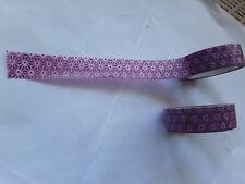 Decorative / sticky purple pattern Washi tape roll.