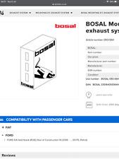 Bosal exhaust mounting kit 093064 Ford Ka fiat 500
